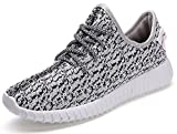 Helen Men's Fashion Lace-up Athletic Sneakers Lightweight Breathable Running Shoes Grey 11 D(M) US