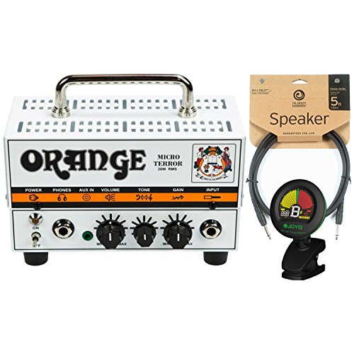 Hybrid Guitar Amps (Orange MT20 Micro Terror 20 Watt Amp Head w/ Joyo Tuner and 5' Speaker Cable)