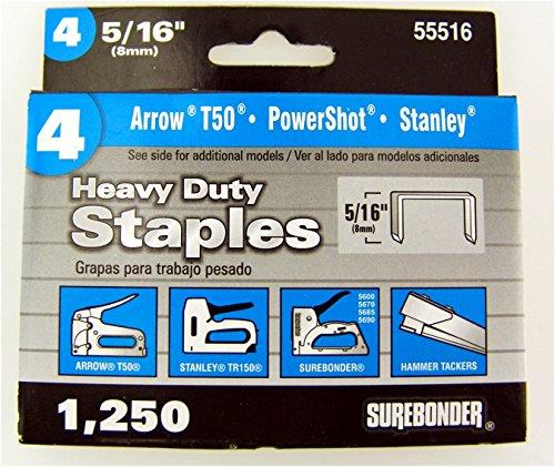 vy Duty 5/16-Inch Length Staples, Arrow T50 Type, 1250 Count (Arrow T50 Staples Box)
