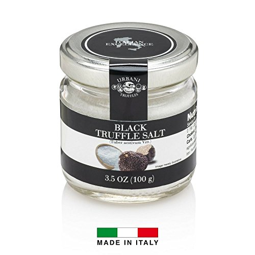 (Italian Black Truffle Salt - 3.5 Ounce - By Urbani Truffles. Made In Italy. Strong Taste And Smell. Perfect To Boost Flavor To Any Kind Of Food.)