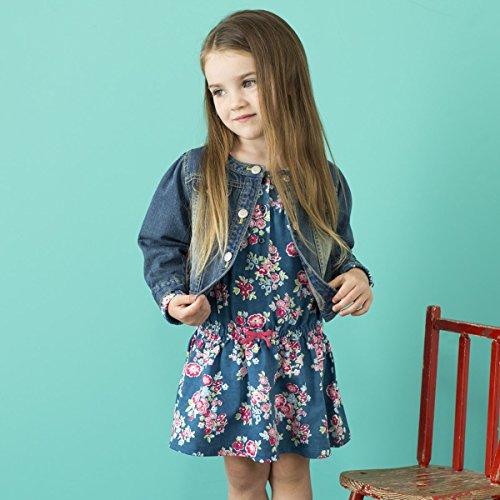 Dave&Bella baby girl jeans jacket kids short jacket little girl fashion coat (18m)