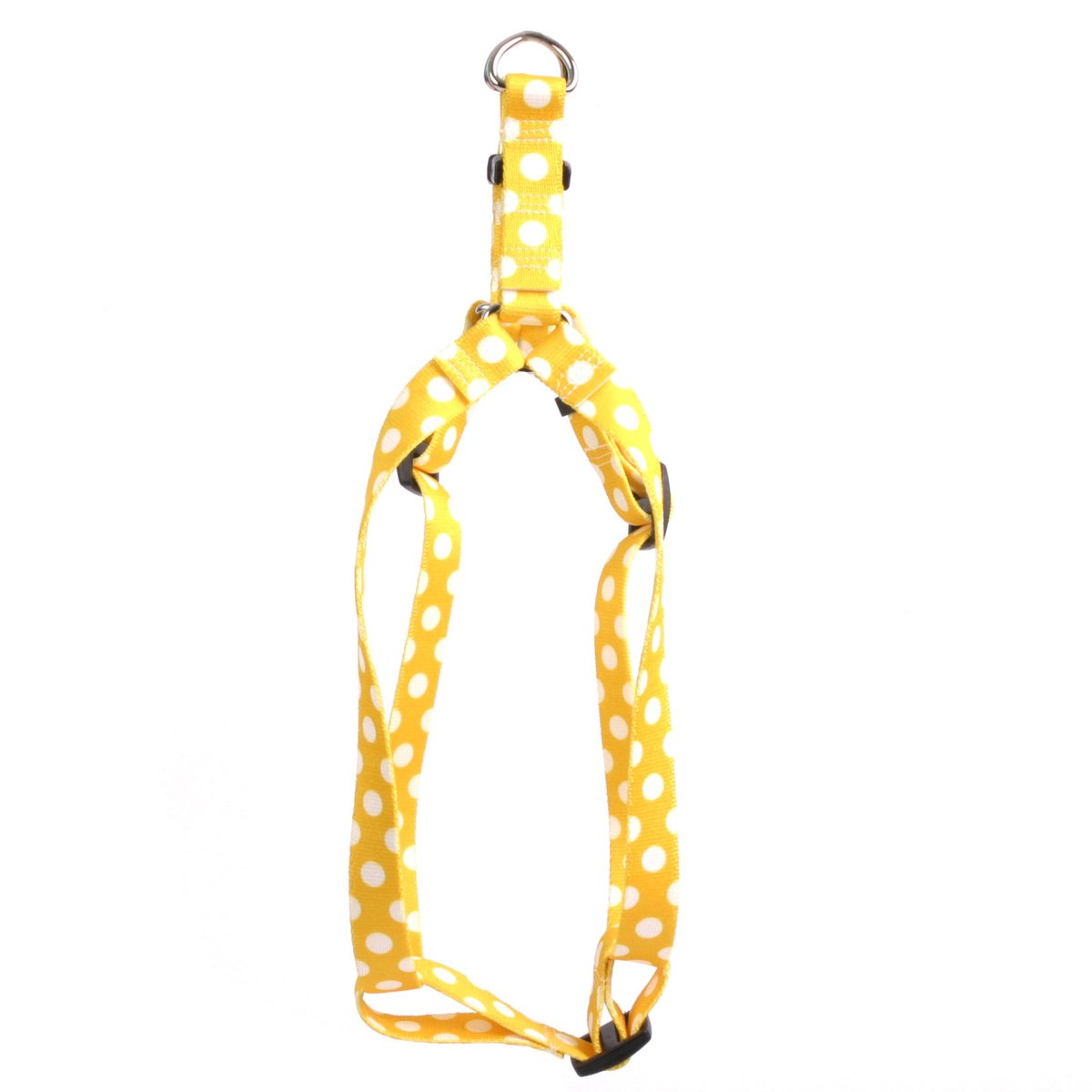 Lemon Polka Dot Large 25\ Lemon Polka Dot Large 25\ Yellow Dog Design Lemon Polka Dots 25-Feet to 40-Feet Step-in Harness, Large