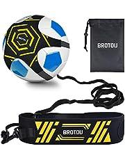 Football Trainer Banda, voetbal Solo Kick Trainer Elastische voetbal Training Skill Trainer Kit voor kinderen volwassenen (zwart # 2)