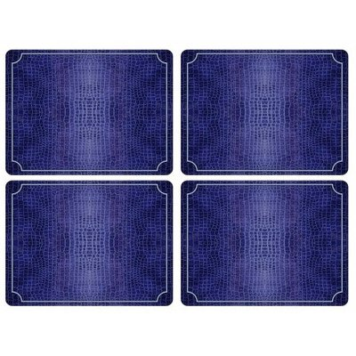 Pimpernel Croc - Blue Placemats - Set of 4 (Large)