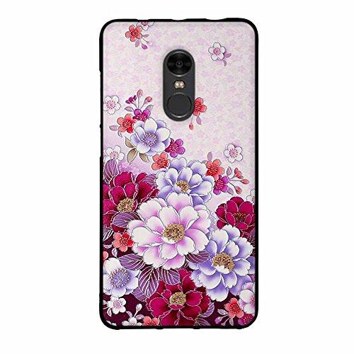 Funda Xiaomi Redmi Note 4, FUBAODA [Flor rosa] caja del teléfono elegancia contemporánea que la manera 3D de diseño creativo de cuerpo completo protector Diseño Mate TPU cubierta del caucho de silicon pic: 04