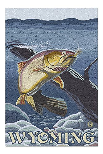Trout Fishing Cross-Section - Wyoming (20x30 Premium 1000 Piece Jigsaw Puzzle, Made in USA!)