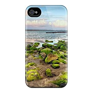 Tough Iphone MsW2594pjDc Case Cover/ Case For Iphone 4/4s(wonderful Rocky Beach With Moss)