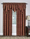 Casual Living Torino Rod Pocket Panel Window Drapes, 50-Inch by 63-Inch, Red Review