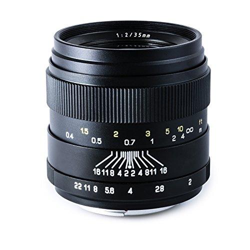 Oshiro 35mm f/2 LD UNC AL Wide Angle Full Frame Prime Lens for Canon EOS 80D, 70D, 60D, 60Da, 50D, 1Ds, 7D, 6D, 5D, 5DS, Rebel T6s, T6i, T6, T5i, T5, T4i, T3i, T3, T2i and SL1 Digital SLR Cameras