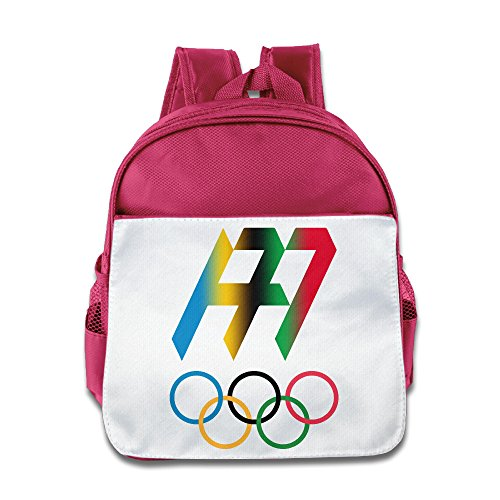 Rio 2016 Olympic Andy Murray Logo Kids School Backpack Bag Pink