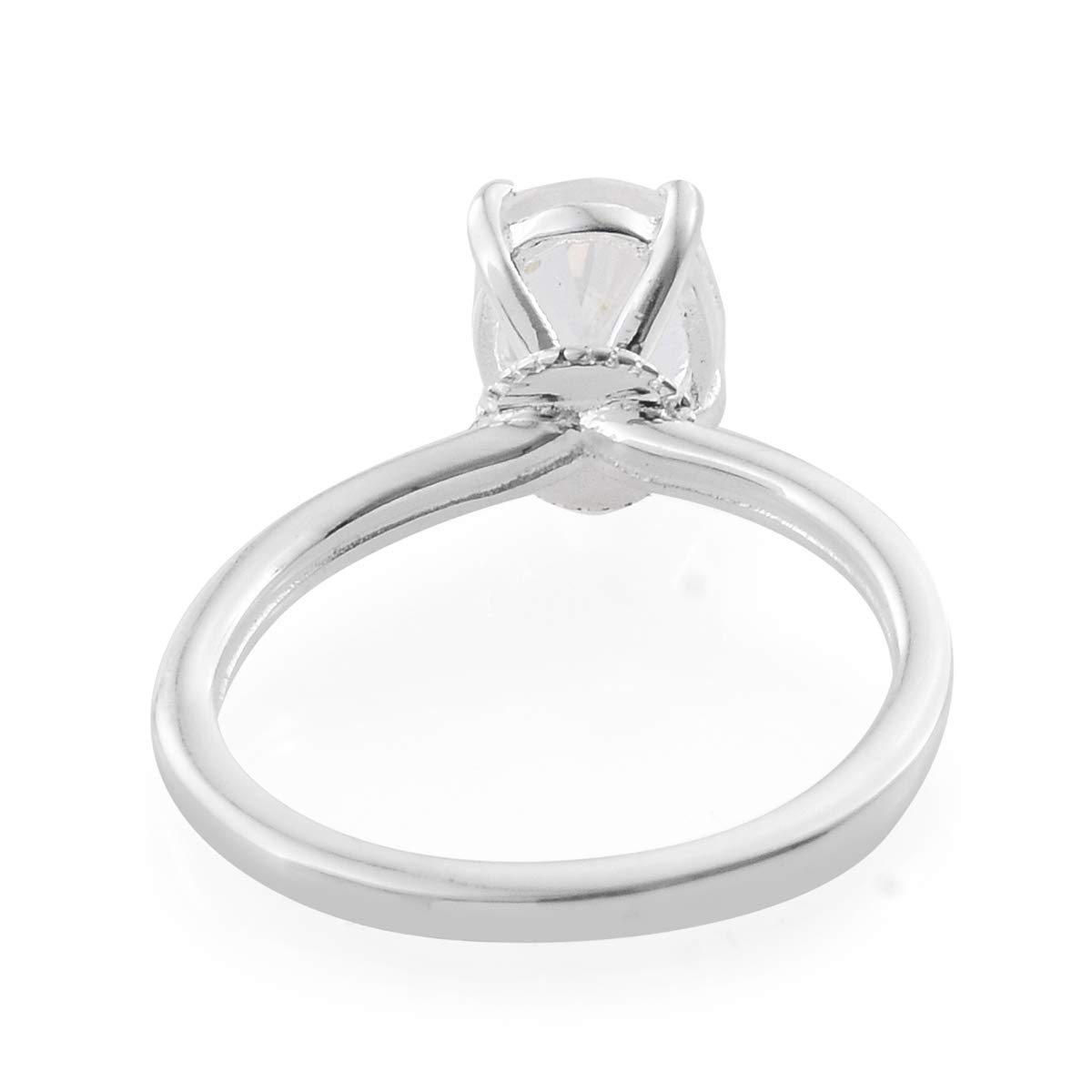 925 Sterling Silver Oval Petalite Statement Ring for Women Jewelry Gift