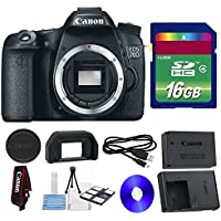 Canon 70D DSLR Camera + 16 GB SDHC Memory Card + Camera Body Cap + 6 PC Cleaning Kit - International Version