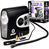 portable air compressor charger - ONE DAY SALE!!-Portable Air Compressor Pump , 12v Cordless Tire Inflator for Automobiles, Car and Inflatables. Electric Digital 12 Volt Compressors Pumps (150 PSI) with Tires Pressure Gauge by Kiasaki