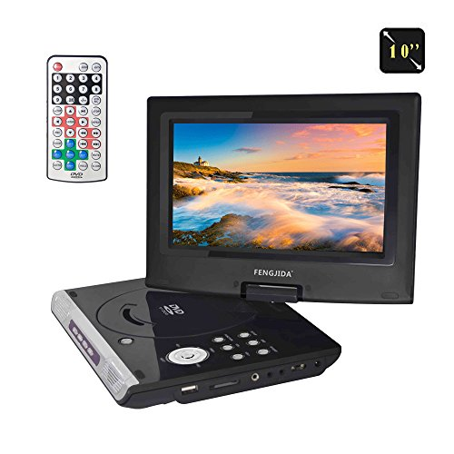 "FENGJIDA 10"" Portable DVD Player with Rechargeable Battery,"