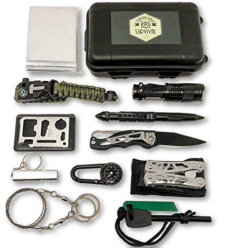 12 in 1 Outdoor Emergency Survival Kit with Plier Tool Set. For camping, mountaineering, hiking, hunting, backpacking and your outdoor adventures – from Felbridge Green