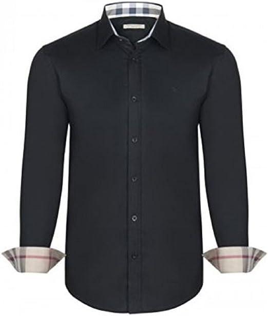 Burberry - Camisa Casual - Manga Larga - para Hombre Negro X ...