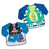 Babies Bibs with Sleeves Baby Led Weaning Feeding Messy Play Apron 6 Mths-3 Yrs