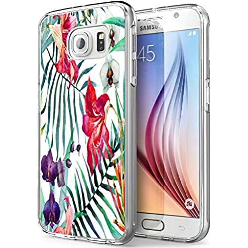 S7 Active Flowers,Gifun Soft Clear TPU [Anti-Slide] and [Drop Protection] Protective Case Cover for Samsung Galaxy S7 Active W Vintage Flowers Design Sales