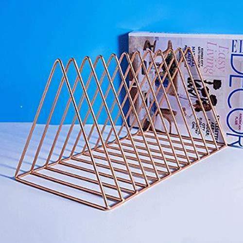 PeleusTech Large File Organizer - 12 Slot Magazine Holder Desktop Storage Rack - (Rose Gold) by PeleusTech (Image #2)
