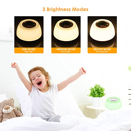 INLIFE Alarm Light with Sunrise Sounds, with 7 Rechargeable