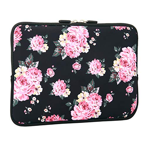 Tablet Sleeve 9.7 Inch, Rose Flower Design Light Weight Shockproof iPad Skin Case for Girls and Women, Floral Tablet Carrying Case Cover Bags for Tablet and iPad 9.7 Inches