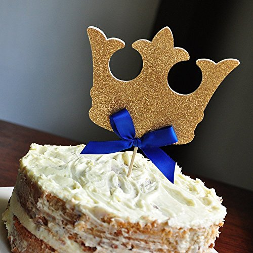 King Crown Cake Topper. Royal Prince Baby Shower Decorations.