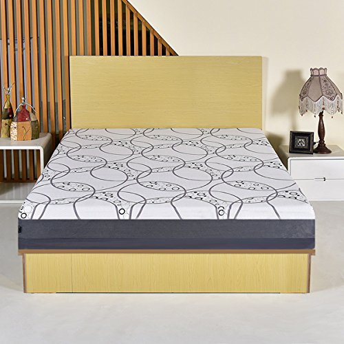 Giantex Memory Foam Mattress 9 Inch Bed Topper Sleep Mattress with Washable Fabric Cover Zipped (Full Size)
