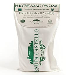 Organic Vialone Nano Rice by Tenuta Castello - 1.1 lb Bag (1.1 pound)