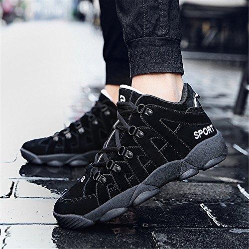 ZHZNVX Zapatos de Mujer Suede Spring/Fall Comfort Sneakers Flat Heel Negro/Gris / Marrón Black