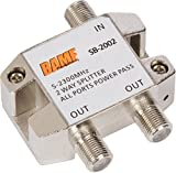 Image of BAMF 2-Way Coax Cable Splitter Bi-Directional MoCA 5-2300MHz