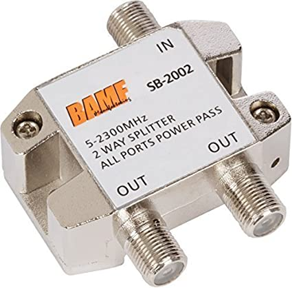 Amazon.com: BAMF 2-Way Coax Cable Splitter Bi-Directional MoCA 5 ...
