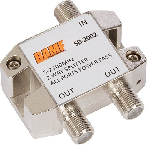 Hdtv Antenna Splitter (BAMF 2-Way Coax Cable Splitter Bi-Directional MoCA 5-2300MHz)