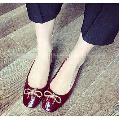 Cómodo y elegante soporte de zapatos de tacón para mujer otros piel sintética al aire libre negro verde gris burdeos granate