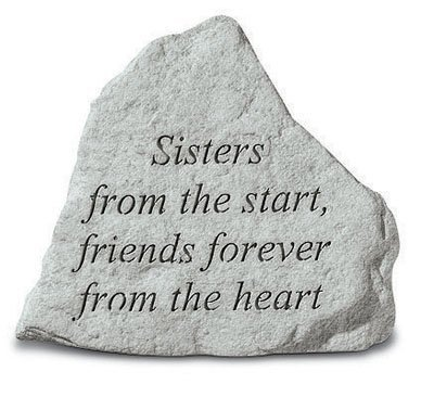 Kay Berry 74220″ Sisters from The Start, Friends Forever… Decorative Stone, Multicolor For Sale
