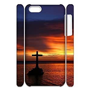 LZHCASE Diy 3D Protection Hard Case Cross For Iphone 5C [Pattern-1]