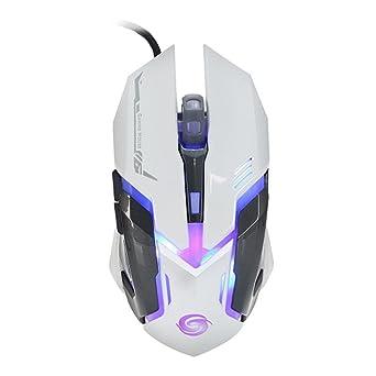 Nightwolf® Profesional LED Óptico 3200 DPI 6 botones USB Con cable juego Ratón Ratones con