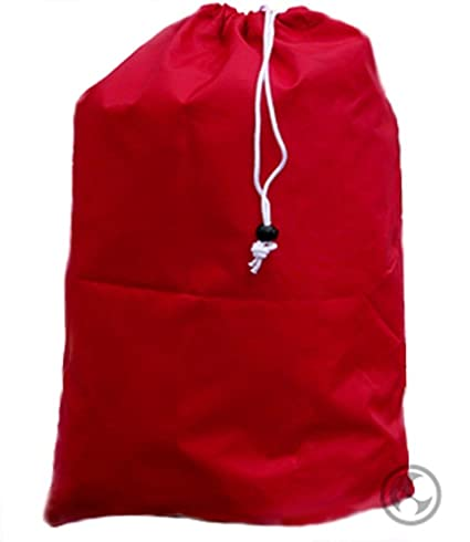 amazon com extra large laundry bag with drawstring color red