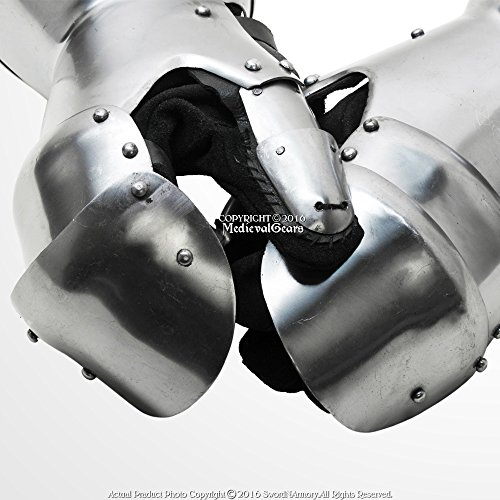 Functional Medieval Reenactment SCA Milanese Gauntlets 16G Steel Mitten SCA LARP -