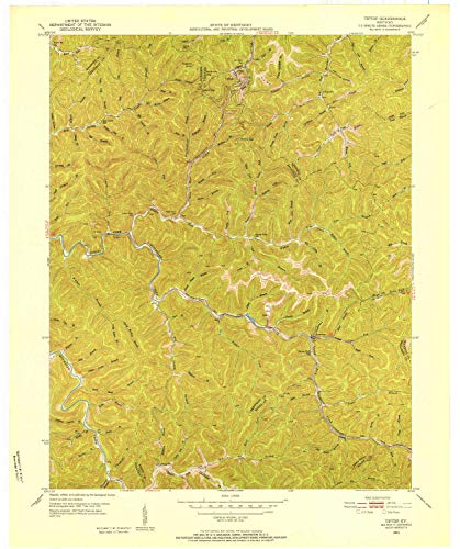 (YellowMaps Tiptop KY topo map, 1:24000 Scale, 7.5 X 7.5 Minute, Historical, 1951, Updated 1952, 27.4 x 22.9 in -)