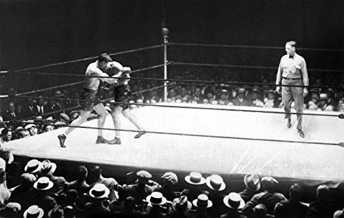 Jack Dempsey (1895-1983) Namerican Boxer Jack Dempsey And Jack Sharkey In The Second Round Of Their Heavyweight Boxing Match At Yankee Stadium 21 July 1927 Poster Print by (18 x 24) (Best Heavyweight Boxing Matches)