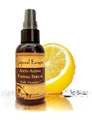 Natural Escapes Organic Skin Care | Anti-Aging Fading Serum | Vitamin C Serum to Fade Away Dark Spots, Age Spots, Liver Spots, Stretch Marks, Sun Damage & Acne Scars | Natural Skin Lightening Cream &