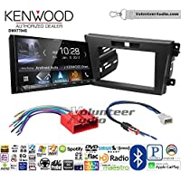 Volunteer Audio Kenwood DMX7704S Double Din Radio Install Kit with Apple CarPlay Android Auto Bluetooth Fits 2010-2012 Mazda CX-7