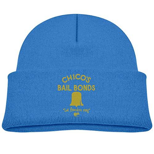 MUPTQWIU Chicos Bail Bonds Children's Beanie Hat Cap Cuffed Knit Beanie Hat Blue
