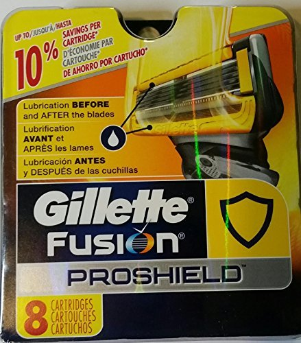 Gillette Proshield Refill Cartridges 8 Count -Made in USA