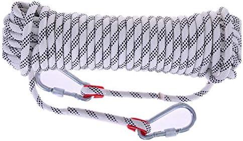 ロープ 10mm 耐荷重2100kg 10M/20M/30M/50M ガイロープ キャンプ カラビナ付き テントロープ 防災 安全 アウトドア活動アクセサリー 多機能コード 補助ロープ 多色