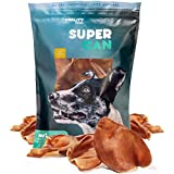 Supreme Pig Ears for Dogs [10 Pack] by Super CAN Bully Sticks, Premium 100% Natural Dog Treats. Deliciously Smoked Pork Chews.