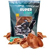 Cheap Supreme Pig Ears for Dogs [10 Pack] by Super CAN Bully Sticks, Premium 100% Natural Dog Treats. Deliciously Smoked Pork Chews.
