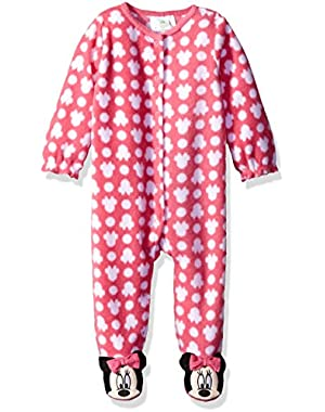Baby Girls' Minnie Mouse Microfleece Footie