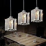 Lightess Chandelier Lighting Hanging Ceiling Lights Crystal Modern Flush Mount Light Fixtures 3 Heads