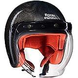 Royal Enfield Gloss Black Open Face with Visor Helmet Size (L)60 CM (RRGHEI000116)
